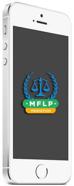 Mediation family law professional logo on mobile